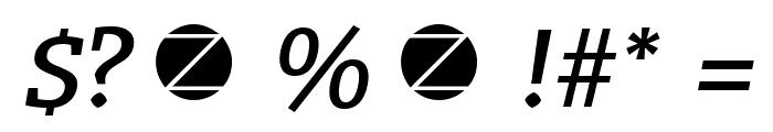 Radcliffe Text Medium Italic Font OTHER CHARS