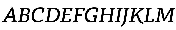 Radcliffe Text Medium Italic Font UPPERCASE