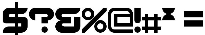 Radeon Regular Font OTHER CHARS