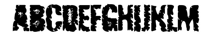 Radiated Pancake Font UPPERCASE