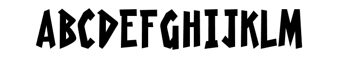 Radioactive Granny Font UPPERCASE