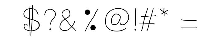 Radium Font OTHER CHARS