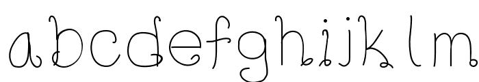 Radium Font LOWERCASE