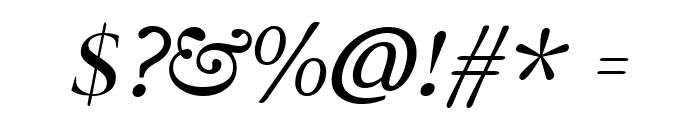 Radley Italic Font OTHER CHARS