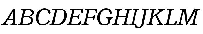 Radley Italic Font UPPERCASE