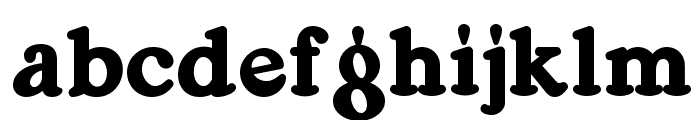 Ragg Mopp NF Font LOWERCASE