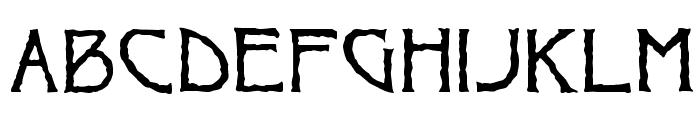 Ragged Regular Font LOWERCASE