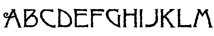 Ragged Font UPPERCASE