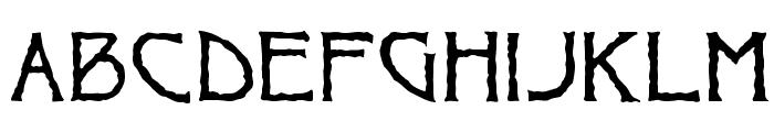 Ragged Font LOWERCASE