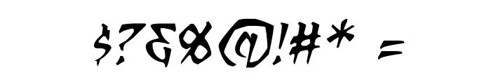 RagingRedLotus BB Italic Font OTHER CHARS