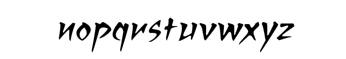 RagingRedLotus BB Italic Font LOWERCASE