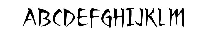 RagingRedLotus BB Font UPPERCASE