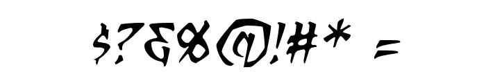 RagingRedLotusBB-Italic Font OTHER CHARS