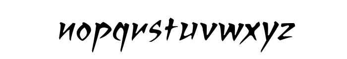 RagingRedLotusBB-Italic Font LOWERCASE