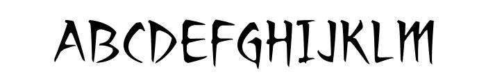 RagingRedLotusBB Font UPPERCASE