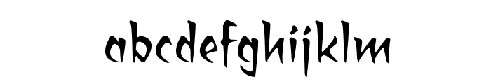 RagingRedLotusBB Font LOWERCASE