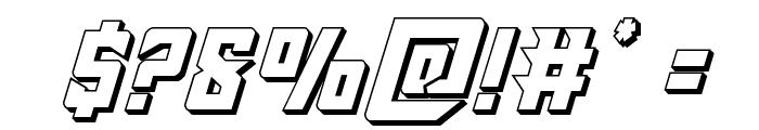 Raider Crusader 3D Font OTHER CHARS
