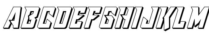 Raider Crusader 3D Font LOWERCASE