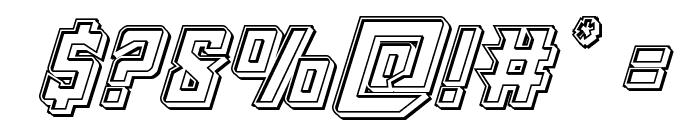 Raider Crusader Engraved Font OTHER CHARS
