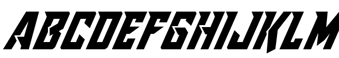 Raider Crusader Italic Font UPPERCASE