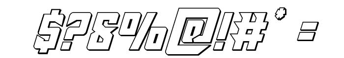 Raider Crusader Outline Font OTHER CHARS
