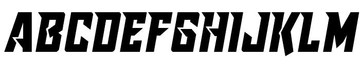 Raider Crusader Semi-Straight Font UPPERCASE
