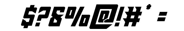 Raider Crusader Shift Up Font OTHER CHARS