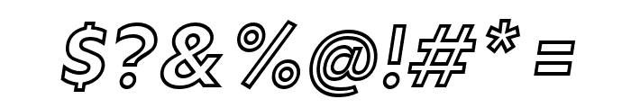 Rain Outline Italic Font OTHER CHARS