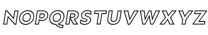 Rain Outline Italic Font UPPERCASE