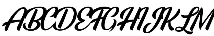 Rainbow Bridge Personal Use Font UPPERCASE