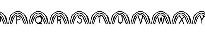 Rainbow Font UPPERCASE