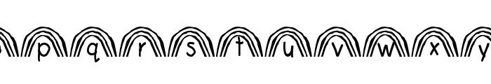 Rainbow Font LOWERCASE