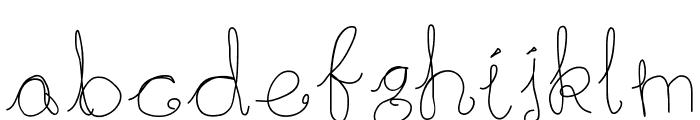 RainingInWhite Font LOWERCASE
