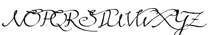 Rainy Wind Font UPPERCASE