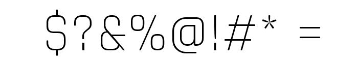 Rajdhani Light Font OTHER CHARS