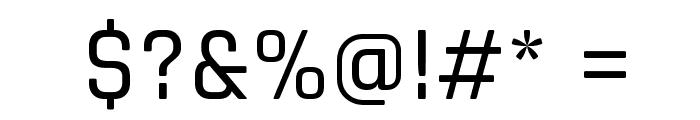 Rajdhani Medium Font OTHER CHARS