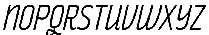 RakeslyLt-Italic Font UPPERCASE