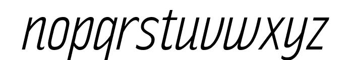 RakeslyLt-Italic Font LOWERCASE