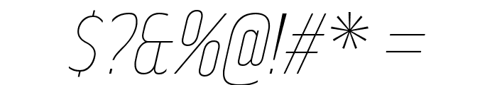 RakeslyUl-Italic Font OTHER CHARS