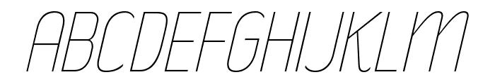 RakeslyUl-Italic Font UPPERCASE