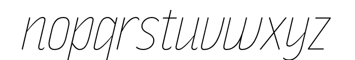 RakeslyUl-Italic Font LOWERCASE