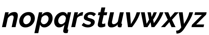Raleway Bold Italic Font LOWERCASE