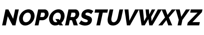 Raleway ExtraBold Italic Font UPPERCASE