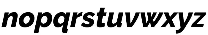 Raleway ExtraBold Italic Font LOWERCASE