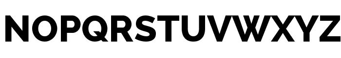 Raleway ExtraBold Font UPPERCASE
