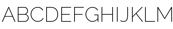 Raleway ExtraLight Font UPPERCASE