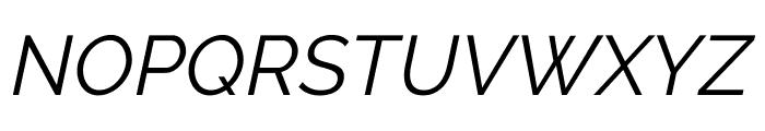 Raleway Italic Font UPPERCASE