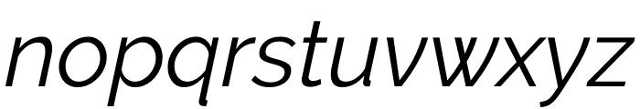 Raleway Italic Font LOWERCASE