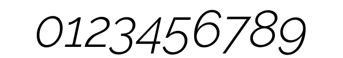 Raleway Light Italic Font OTHER CHARS