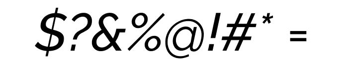 Raleway Medium Italic Font OTHER CHARS